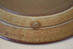 Stoneware platter. Mark