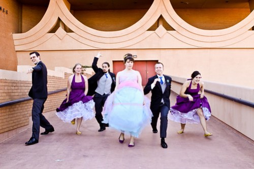 I love their bridal party group shots!