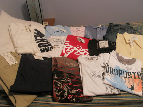 All the stuff I got at the Aeropostale Online Store