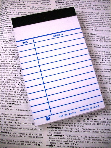 Library Checkout Notepad