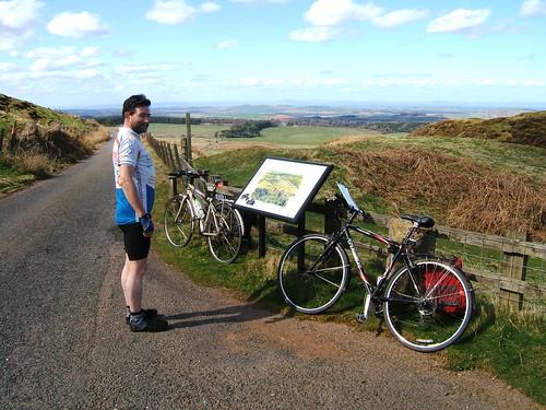 Photo stop at White Castle, East Lothian