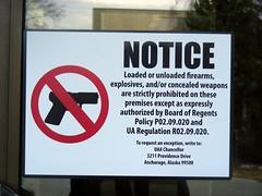 Posted warning: University of Alaska Regents P...