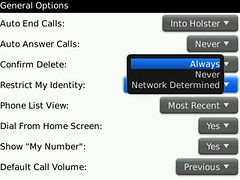 Restrict My Identity on BlackBerry Bold 9700