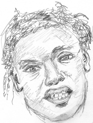 Drawing Unknown Faces, part 169, sketch 1