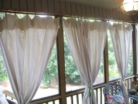 Drop cloth curtain tutorial for the screened in patio ...