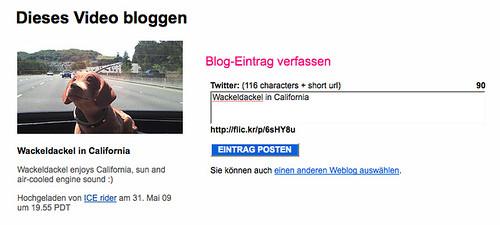 Twitter-Integration bei Flickr