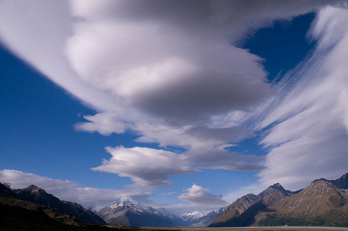 Clouds above Mt Cook