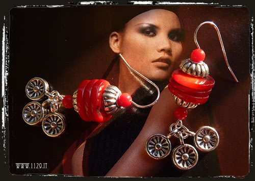 Orecchini rossi - Red earrings IBCOFOR