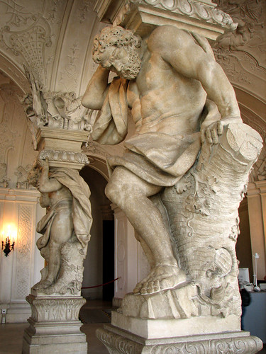 Statue columns in Upper Belvedere by you.