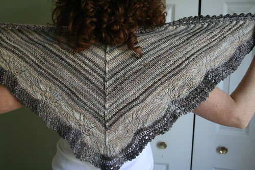 knitted :: handspun Andrea's Shawl
