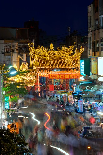 Matsu Temple is located in the middle of the night market on Cijin Island.