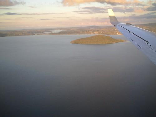 Flying into Rotorua, New Zealand