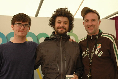 Brian and Michael & Nate of Passion Pit
