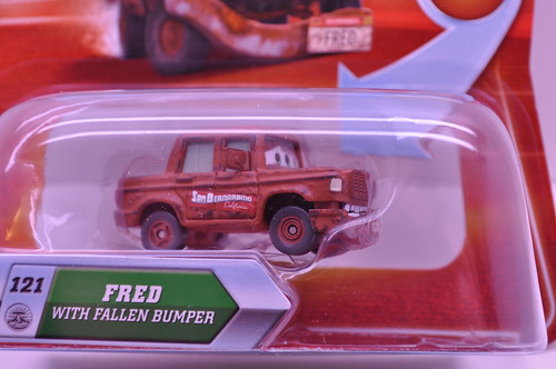 disney cars chase fred with fallen bumper (1)