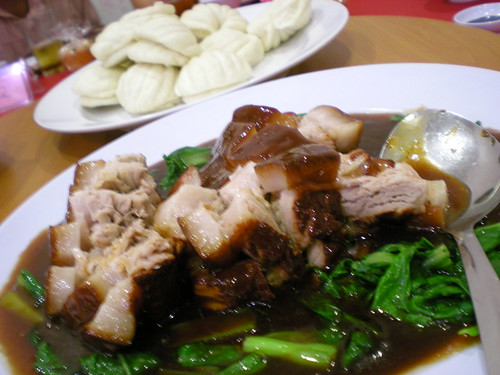Braised pork belly with mantao