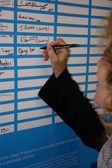 Otago Polytechnic simple pledge signing