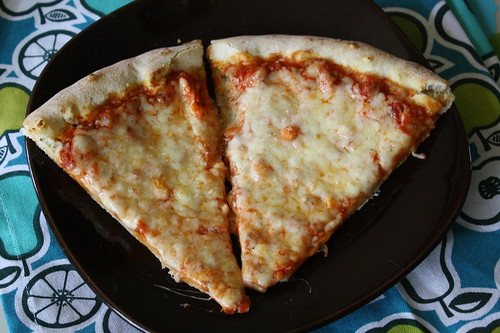 Trader Joe's four formaggi pizza