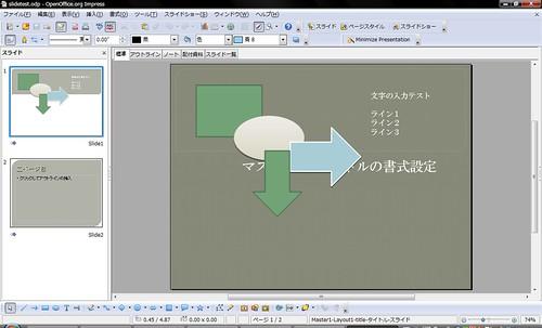 Slide as Opened on OpenOffice.org 3.1 RC2