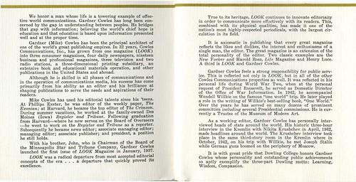 Program, G. Cowles Biography
