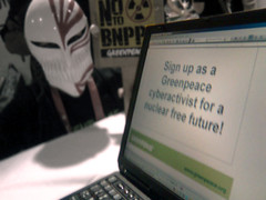 Click here to sign up as a Greenpeace cyberactivist!