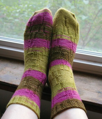 Finished Ty-Dy socks