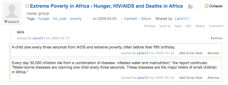 Student highlights research on poverty.