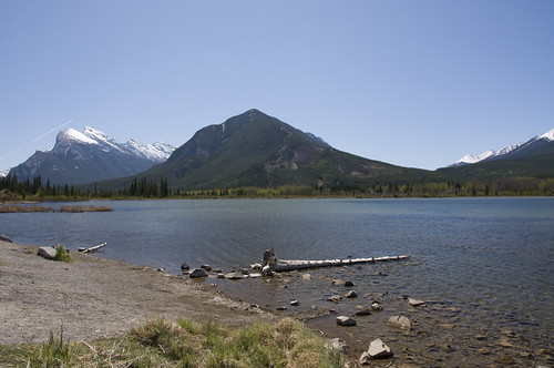 Scenery of Banff at the 2nd Vermillion Lake