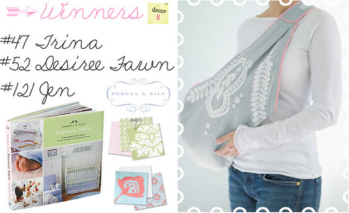 Serena & Lily Giveaway: Winners!