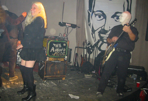 20081115 - SubGenius Devival in Baltimore - 171-7175 - Carolyn on stage with Amino Acids - please click through to leave a comment on FlickR