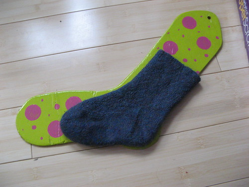 yes, the sock blocker is the same size as my foot.