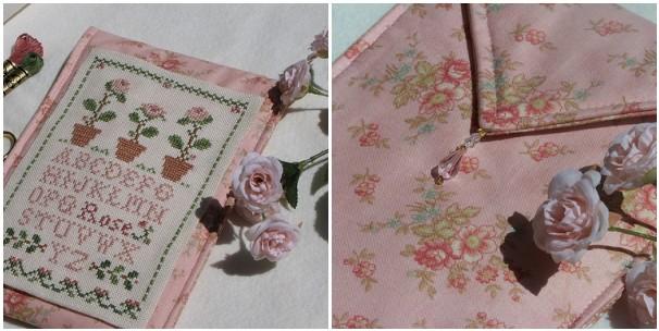 rose sampler thread pouch