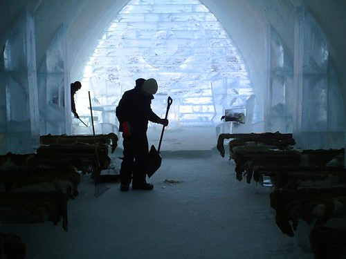 Cleaning the chapel