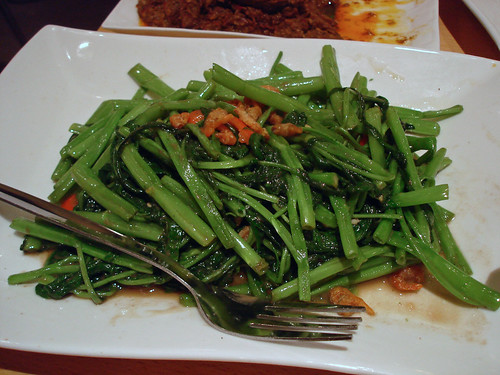 Fried Kangkong with Belacan