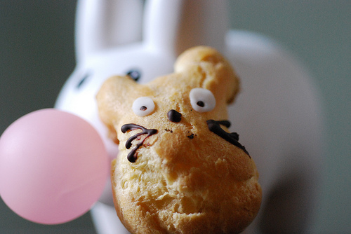 Totoro cream puffs by Tofugirl, Created/posted on 4/30/2009