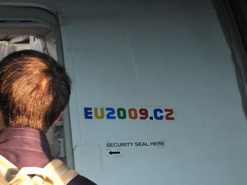 EU2009.CZ logo on a CSA plane