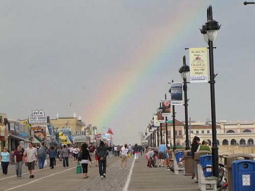 Rainbow over the boardwalk