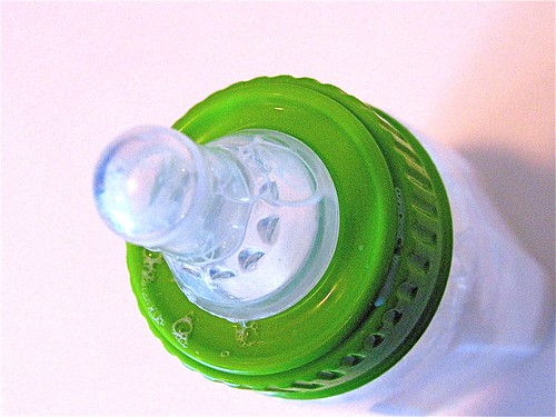 bottle with green ring