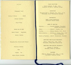 1969 Inauguration Dinner Program