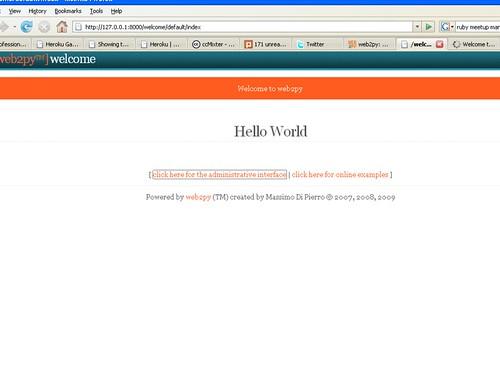 Web2Py Hello World