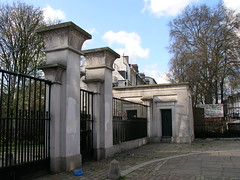 Entrance gates to Abney Park Cemetery, London