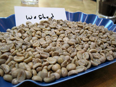 "Green coffee beans, ""washed"""