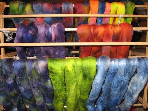 Fiber dyed on 5-23-09
