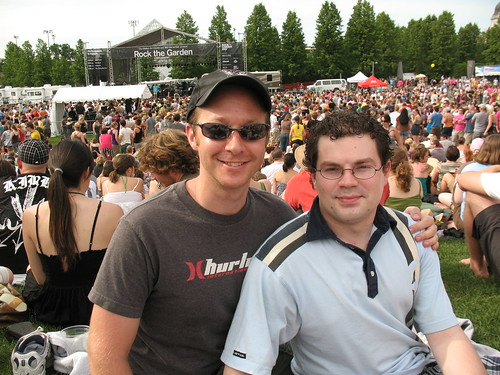 Mikey and Noah at Rock the Garden