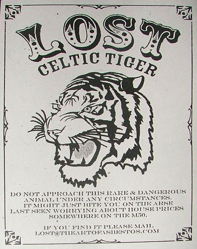 Lost Celtic Tiger artist: Asbestos from the series of LostArtofAsbestos