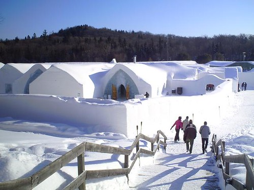 View of the ice hotel from the talik Lodge