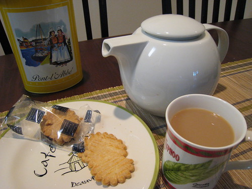 British tea and French biscuits