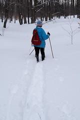 Sue Breaks Trail