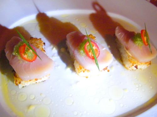 Hamachi on Crispy Rice, MyLastBite.com