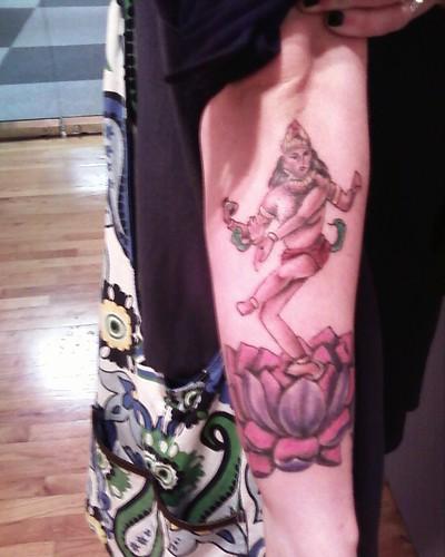 shiva tattoo outside of right