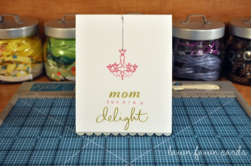 We loved lawn fawn cards clean and graphic chandelier card.